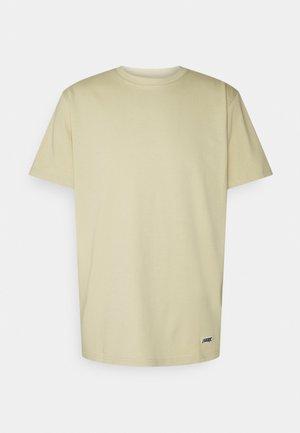 BOX LOGO TEE - T-shirt basic - light desert
