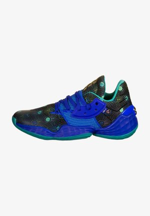 HARDEN VOL. 4 BASKETBALLSCHUH HERREN - Basketball shoes - glow blue / royal blue / gold metallic