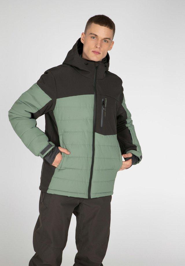 Snowboardová bunda - green spray