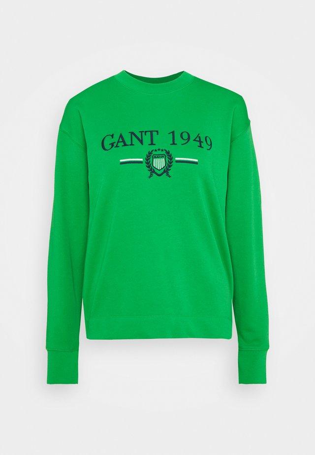 CREST CNECK  - Sweatshirt - fern green