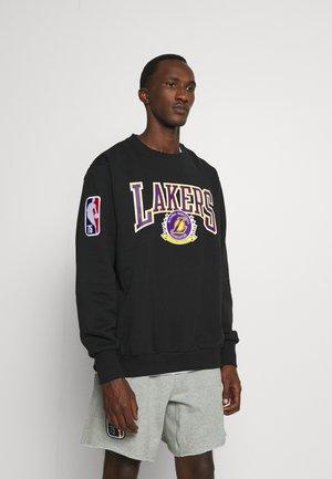 NBA LOS ANGELES LAKERS CREWNECK - Klubbkläder - black/white/amarillo