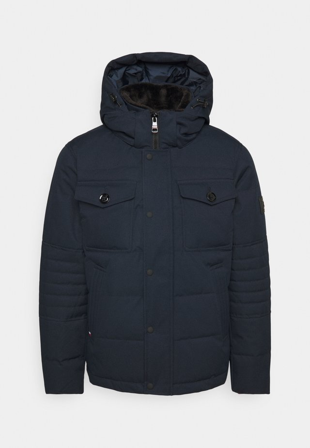 REMOVABLE HOODED BOMBER - Winter jacket - blue