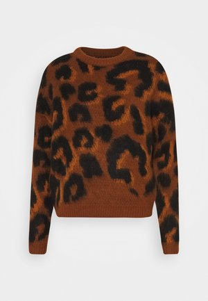 ONLNEW RANJA - Pullover - picante/gold flame/black