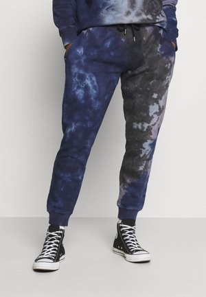 TIE DYE CREW JOGGER - Pantaloni sportivi - blue