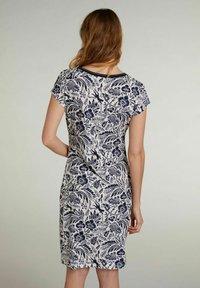 Oui - Shift dress - white blue - 2