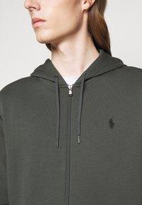 Polo Ralph Lauren - DOUBLE-KNIT FULL-ZIP HOODIE - Tröja med dragkedja - charcoal grey - 5