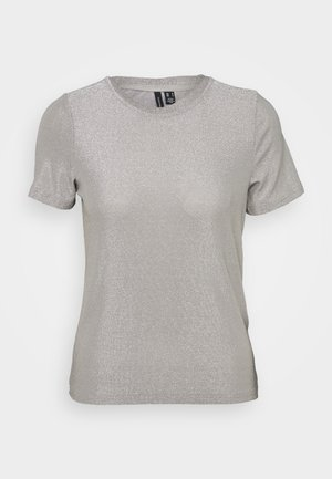 VMADALYN GLITTER - Print T-shirt - silver