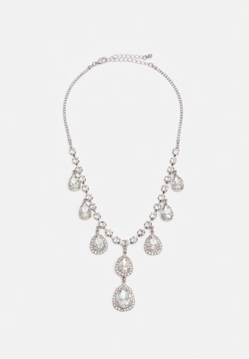 PCCRISTAL NECKLACE - Smykke - silver-coloured