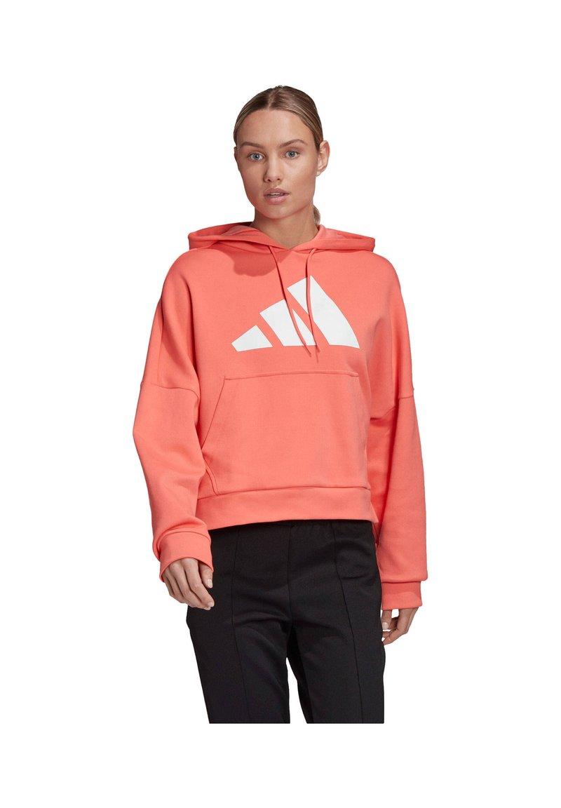 adidas Performance - MIT KAPUZE - Hoodie - orange