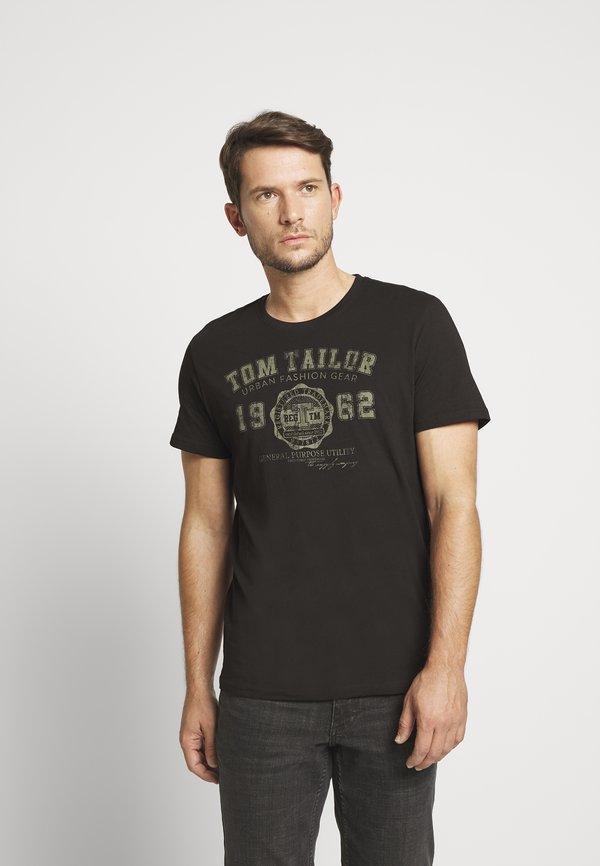 TOM TAILOR BASIC T-SHIRT 3 PACK - T-shirt z nadrukiem - black/czarny Odzież Męska JBRC