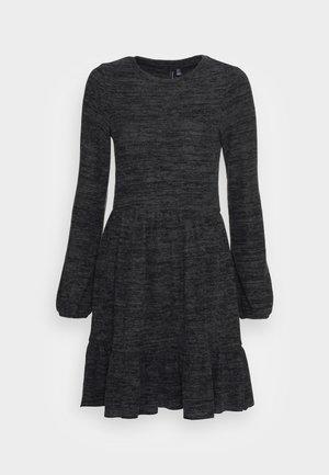 VMTAMMY SHORT DRESS - Jumper dress - mottled dark grey