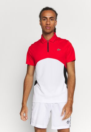 Polo shirt - corrida/white/black