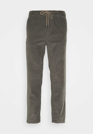 JJIVEGA JJCORDUROY - Trousers - charcoal gray