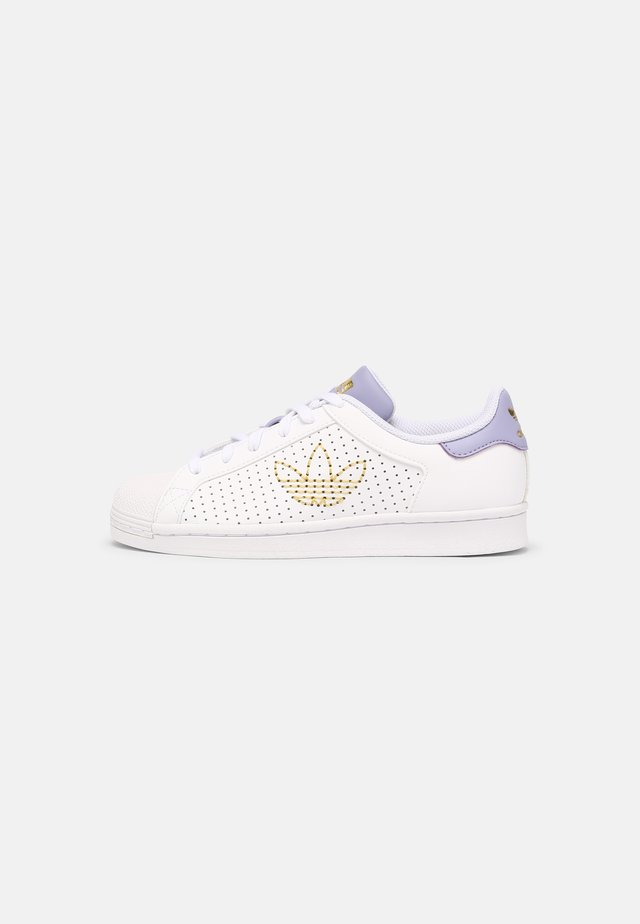 SUPERSTAR - Trainers - white/dust purple/gold metallic