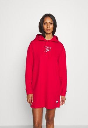 HOODIE DRESS - Nightie - primary red
