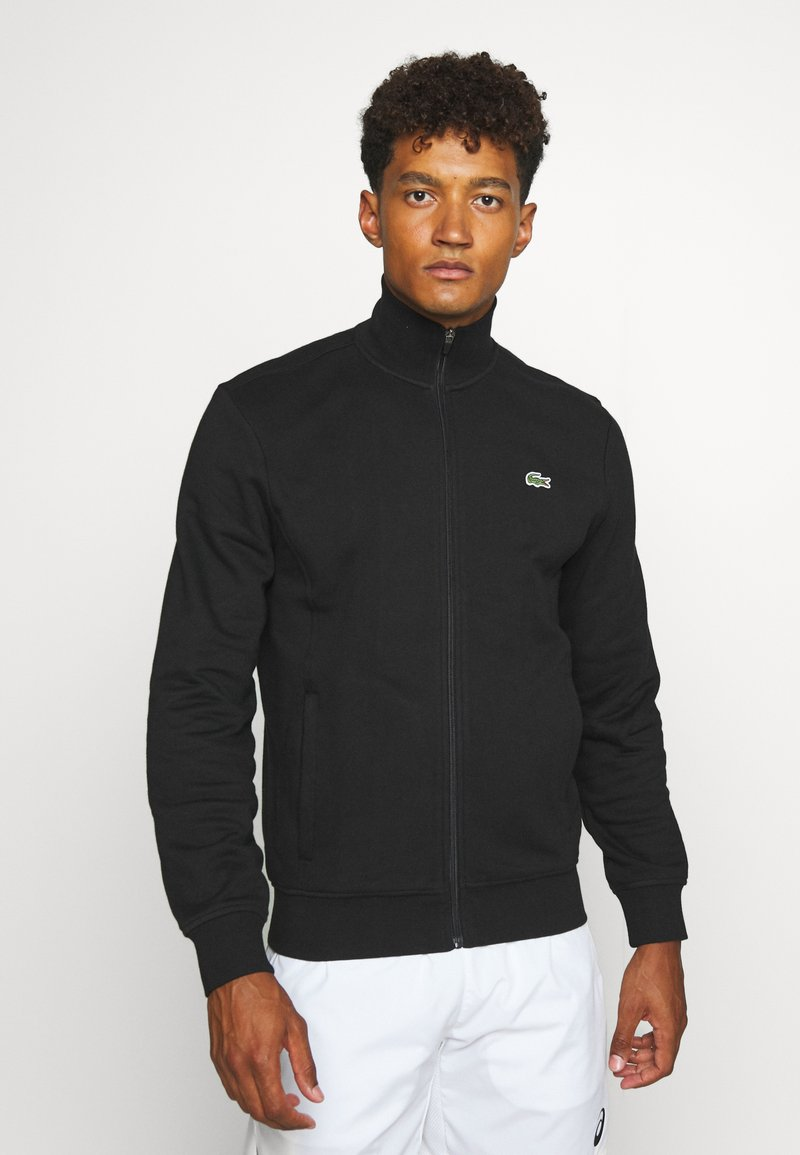 Lacoste Sport - CLASSIC JACKET - Zip-up hoodie - black