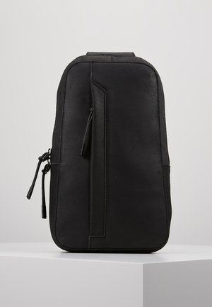 UNISEX LEATHER - Across body bag - black