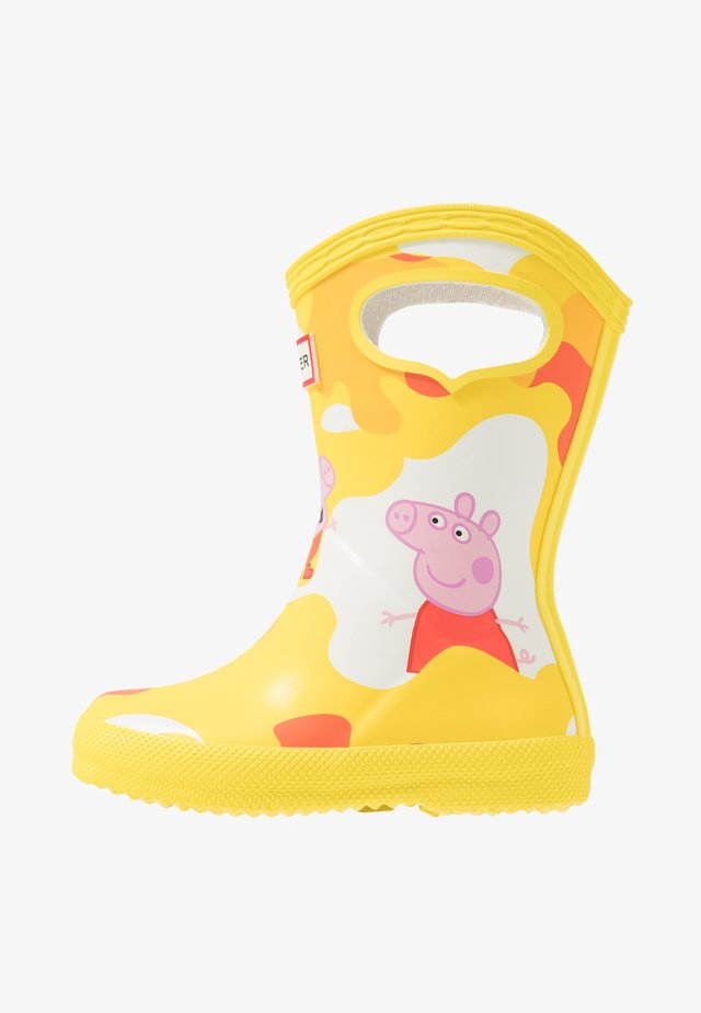 KIDS FIRST CLASSIC PULL  ON PEPPA MUDDY PUDDLES BOOT - Kumisaappaat - wader yellow