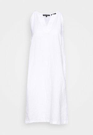 DRESS EASY STRAP STYLE DETAILED NECKLINE SUMMER LINE - Denní šaty - white