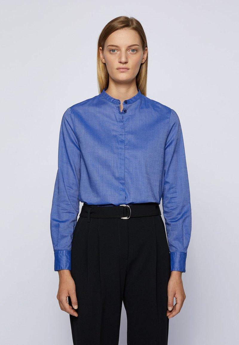 BOSS - C_BEFELIZE_18 - Button-down blouse - light blue