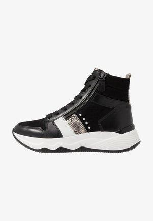 Sneakers hoog - schwarz/weiß