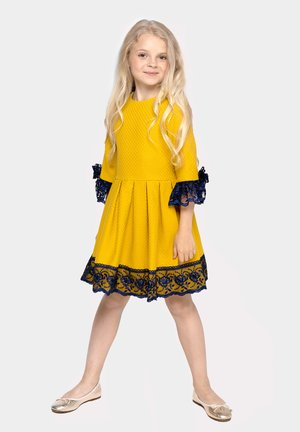 WITH LACE - Day dress - yellow