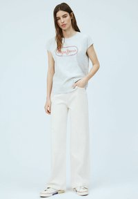 Pepe Jeans - CAROL - Print T-shirt - gris marl - 1
