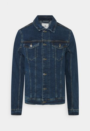 TRUCKER JACKET - Farkkutakki - mid stone wash denim