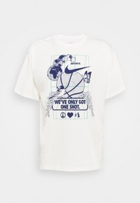 Nike Performance - WE VE ONLY GOT ONE SHOT TEE - Print T-shirt - pure - 4