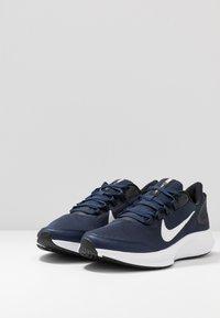 Nike Performance - RUNALLDAY 2 - Neutral running shoes - midnight navy/white/black - 2