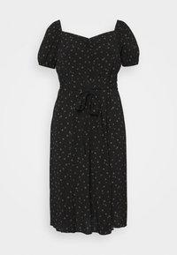 Forever New Curve - HALSEY PUFF SLEEVE MIDI DRESS - Day dress - black - 0