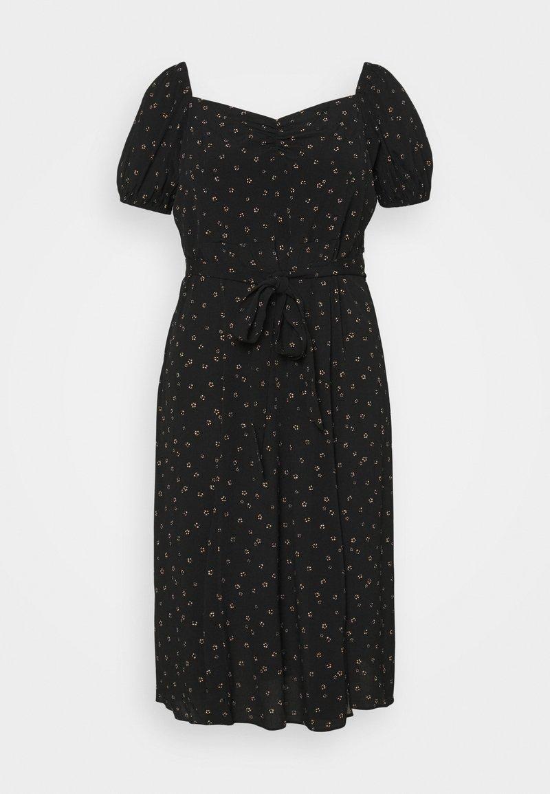 Forever New Curve - HALSEY PUFF SLEEVE MIDI DRESS - Day dress - black