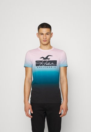 Printtipaita - pink/navy ombre
