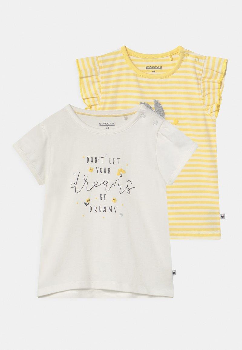 Staccato - 2 PACK - Print T-shirt - white/yellow