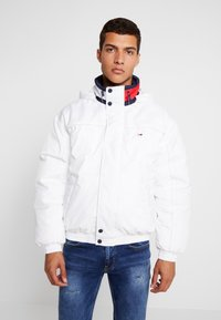 Tommy Jeans - BRANDED COLLAR JACKET - Winterjas - classic white - 0