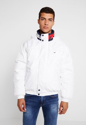 BRANDED COLLAR JACKET - Winter jacket - classic white