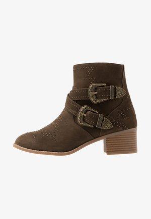 Kovbojské/motorkářské boty - khaki