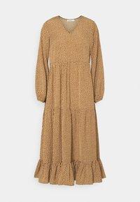 Glamorous Petite - TIERED DRESS - Maxi dress - rust cream - 0