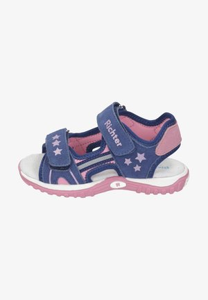 Walking sandals - nautical/candy