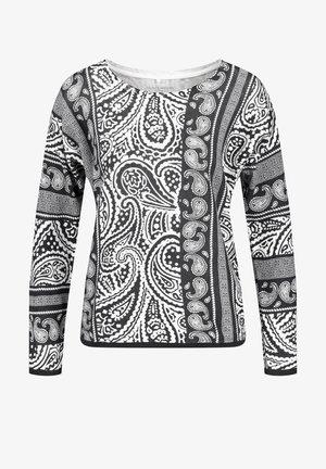 RUNDHALS MIT PAISLEY MUSTER ORGANIC CO - Sweatshirt - schwarz/ecru/weiss patch