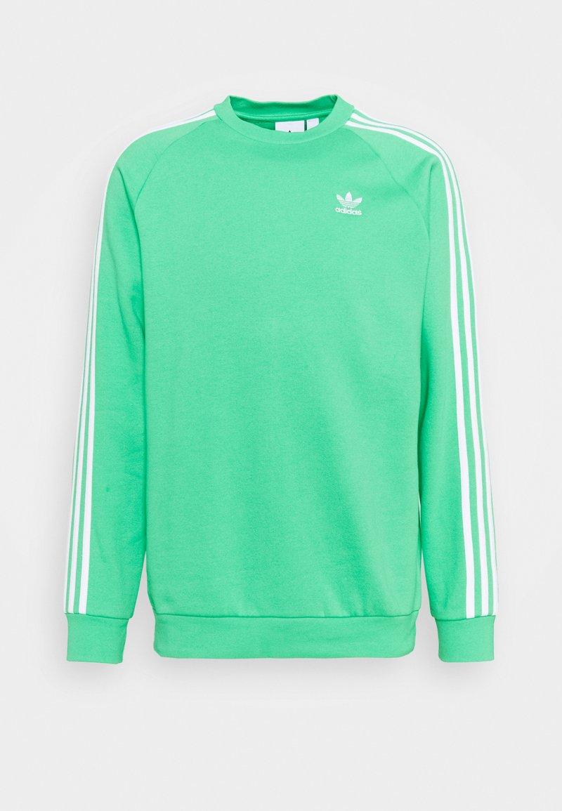 adidas Originals - STRIPES CREW UNISEX - Sweatshirt - semi screaming green