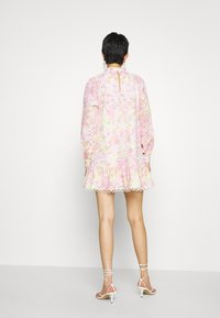 River Island - HIGH NECK BROIDERY DRESS - Day dress - multi-coloured - 2