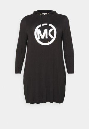 CIRCLE HOODIE DRESS - Kjole - black
