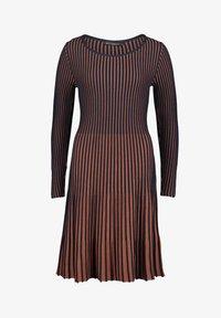 Betty Barclay - MIT PLISSEE - Jumper dress - dark blue/brown - 2