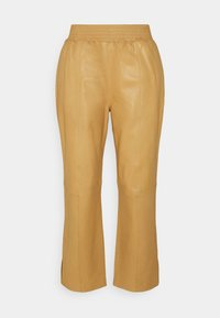Frame Denim - GYM PANT - Leather trousers - butterscotch - 0