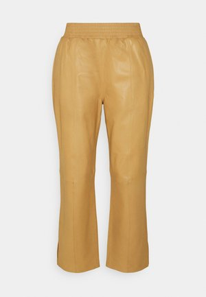 GYM PANT - Leather trousers - butterscotch