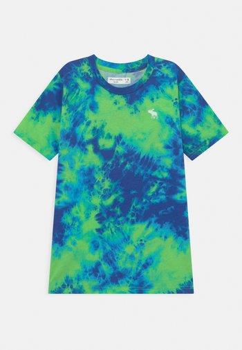 Print T-shirt - blue/green