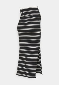 MAMALICIOUS - MLSIA SKIRT - Pencil skirt - black/snow white - 1