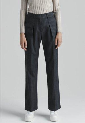 Trousers - grey pinstripe