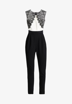 SHOULDER CONTRAST - Jumpsuit - black/white